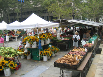 The farmers market at Brooklyn Borough Hall.