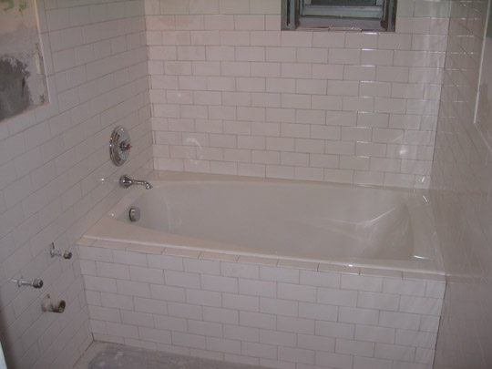 Bathroom with tile