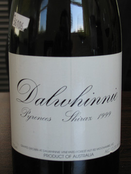 1999 Dalwhinnie Shiraz