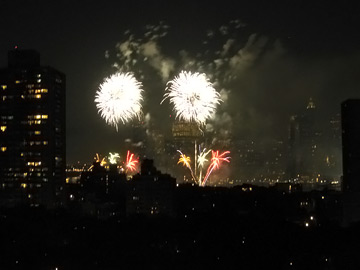 Fireworks from 175 Adams Street
