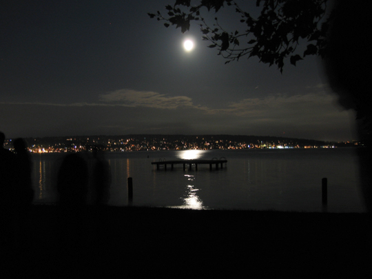 Moon over Magnuson Park