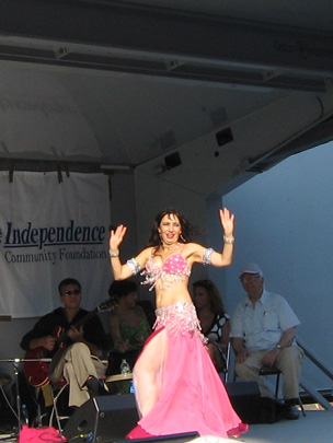 Belly dancing at Atlantic Antic