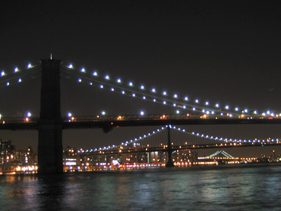 The view from South Street Seaport