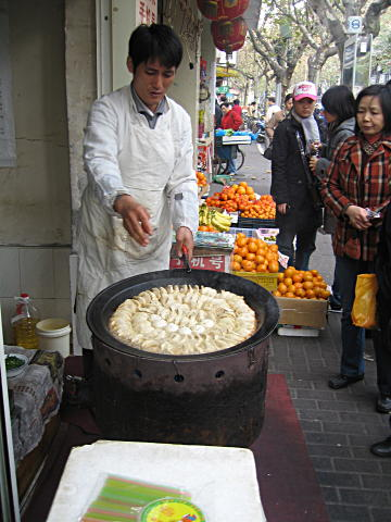 Pork dumplings in Shanghai