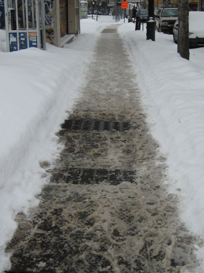 Unshoveled walk in Montreal