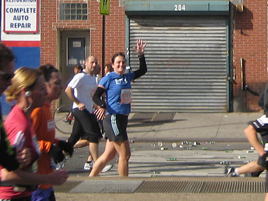 Emily runs the marathon
