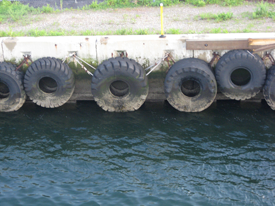 Tires on the water