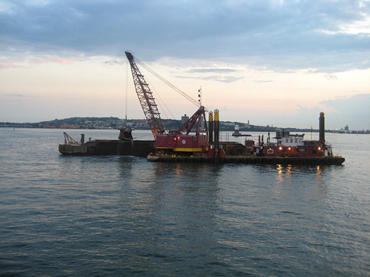 Dredging in New York Harbor