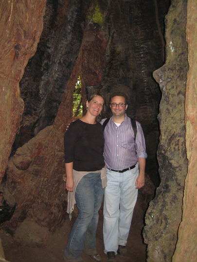 Patti and I at Muir Woods in a tree