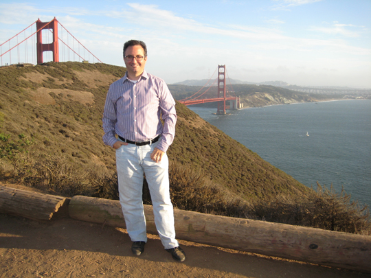 In front of the Golden Gate Bridge