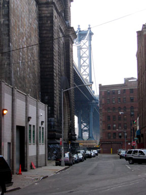 The Manhattan Bridge from Front Street in DUMBO