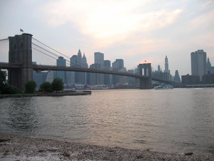 The Brooklyn Bridge from Brooklyn Bridge Park