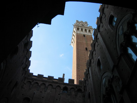 The tower in the Piazza del Campo