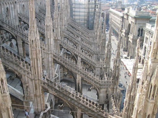 View of Milan from Duomo