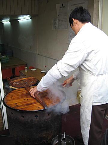 Pork dumplings in Shanghai