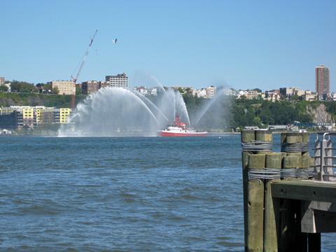 NYFD Fireboat on the Hudson River
