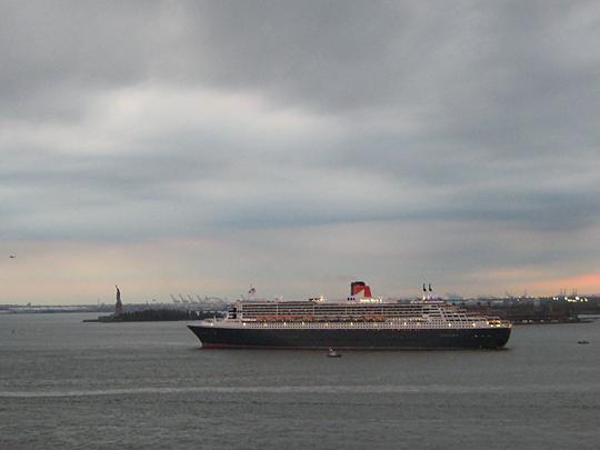 Queen Mary 2 in New York Harbor
