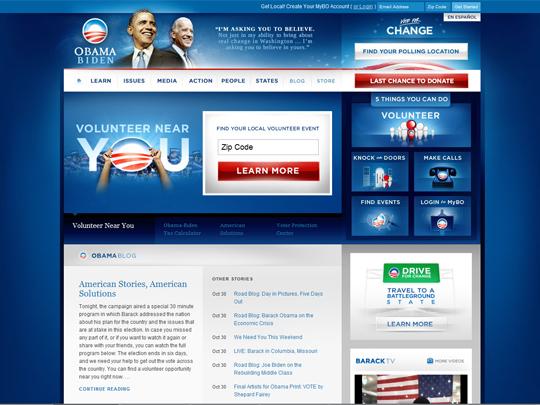Obama web site