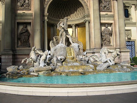 Fake Trevi Fountain in Las Vegas