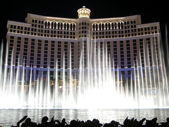 Bellagio water show in Las Vegas