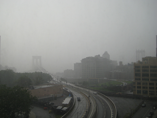 Huge rainstorm in Brooklyn