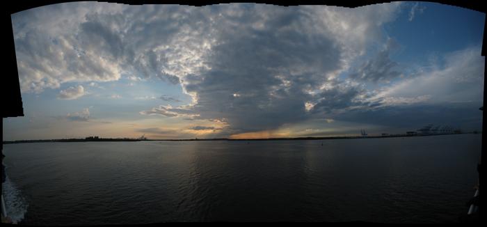 Sunset over New York Harbor