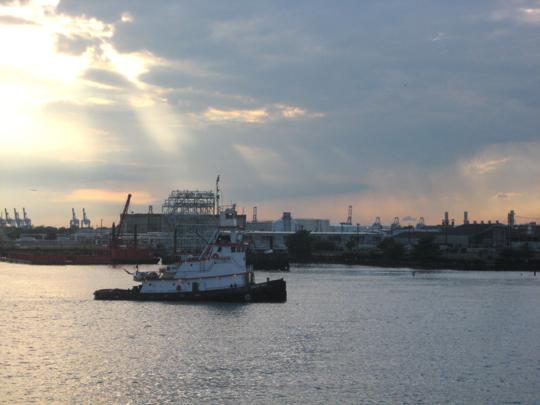 Tugboat in the bay