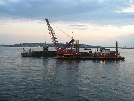 Dredging in New York Harbor