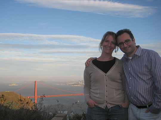 Patti and I and the Golden Gate Bridge