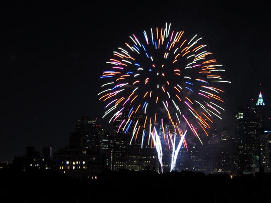 Fireworks for the 100th Birthday of the Manhattan Bridge